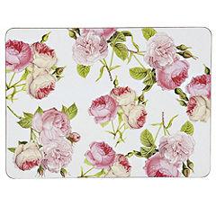 Tu Pink Rose Placemat and Coaster 8-piece Set