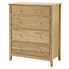 Savannah Ash Veneer 4-drawer Chest