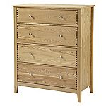 Savannah Ash Veneer 4-drawer Chest of Drawers