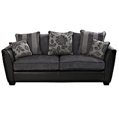 Nicola Black Large Sofa