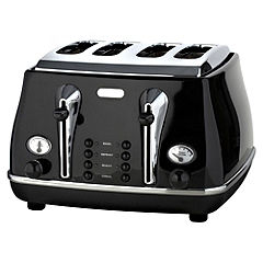 DeLonghi Icona Black 4-slice Toaster
