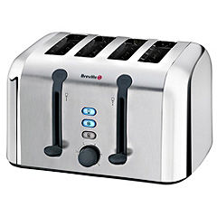 Breville Brushed Stainless Steel 4-slice Toaster