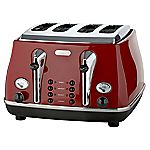 DeLonghi Icona Red 4-slice Toaster
