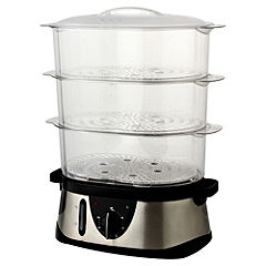 Sainsbury's Be Good to Yourself Stainless Steel 3 Tier Steamer