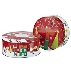 Sainsbury's Santa 2-pack Cake Tins