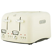 DeLonghi Cream 4-slice Toaster