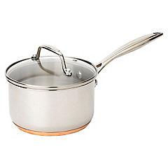Cook's Collection 16cm Copper Bottom Saucepan