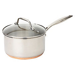 Cook's Collection 18cm Copper Bottom Saucepan