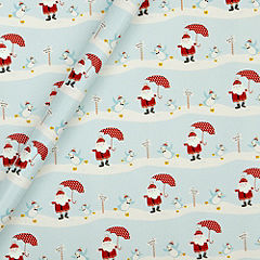 Sainsbury's Sustainably Sourced Santa Scene 4m Wrapping Paper