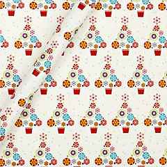 Sainsbury's Sustainably Sourced Icon Trees 4m Wrapping Paper