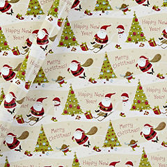 Sainsbury's Santa Scene Wrapping Paper 4m