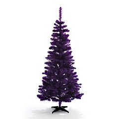 Michael Sellick & Diva Dan decorate a purple christmas tree.
