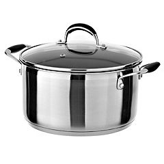 Cook's Collection Stainless Steel Straight Angle Non-stick Stockpot