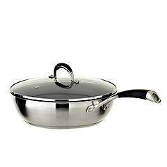 Cook's Collection Stainless Steel Straight Angle Non-stick 28cm Sauté Pan