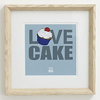Gallery Love Cake Framed Wall Art 15x15cm