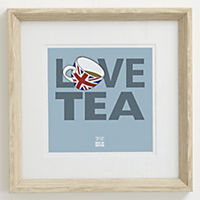 Gallery Love Tea Framed Wall Art 15x15cm