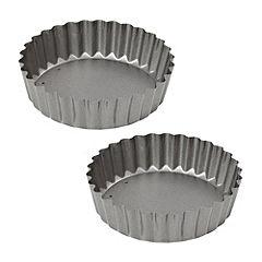 Sainsbury's Non-stick Small Deep Flan Dish 2-pack