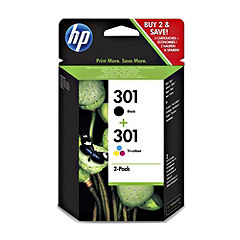 HP 301 Black and Tri Colour Ink Multipack