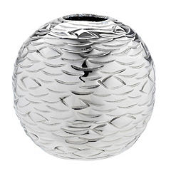 Tu Silver Hammered-effect Tealight Holder