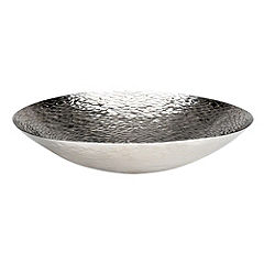 Tu Large Silver Hammered-effect Bowl
