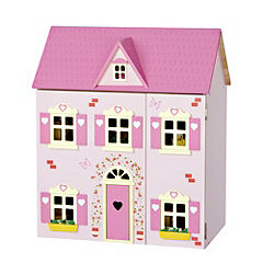 Wooden Dolls' House and Furniture Pack