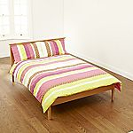 Tu Bright Multi-stripe Printed Bed Linen Set