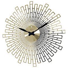 Gold Finish Large Starburst Clock