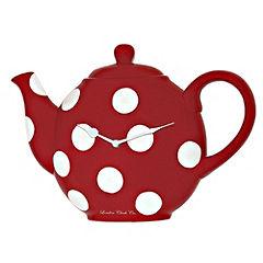 Teapot Clock Red