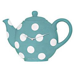 Teapot Clock Turquoise