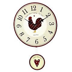 Traditional Chicken Kitchen Pendulum Clock