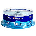 Verbatim CD-R Blank Disks 25-pack