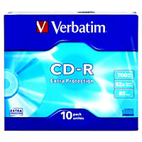Verbatim CD-R Slim Case Blank Disks 10-pack