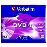 Verbatim DVD+R Slim Case Black Disks 10-pack