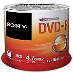 Sony DVD-R Blank Disks 50-pack