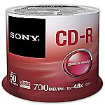 Sony CD-R Blank Disks 50 Pack