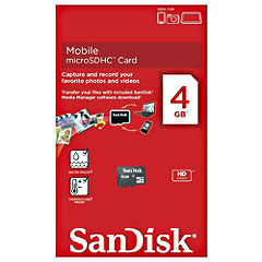 SanDisk 4GB Micro SD Memory Card