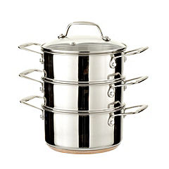 Cook's Collection Copper Bottom 3-tier Steamer