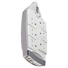 Belkin 2m 6 Socket Surgemaster Surge Protector with Phone Protection