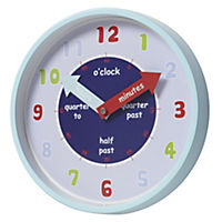 Tu Kids' Blue Wall Clock