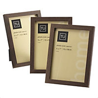 "Tu Dark Wood Frames 5x7"" Set of 3"