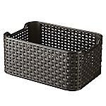Curver Brown Rattan Style Storage Box Small