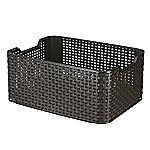 Curver Brown Rattan Style Storage Box Medium