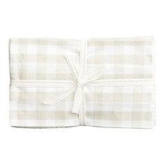 Sainsbury's Neutral Tea Towels 4-pack