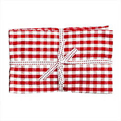 Sainsbury's Red Tea Towels 4-pack