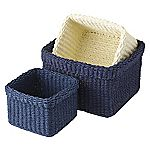 Tu Coastal Paper Rope Storage Baskets Set of 3