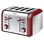 Breville Opula Collection Red Stainless Steel 4-slice Toaster