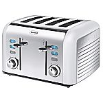 Breville Opula Collection Opal White Stainless Steel 4-slice Toaster