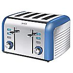 Breville Opula Collection Topaz Blue Stainless Steel 4-slice Toaster