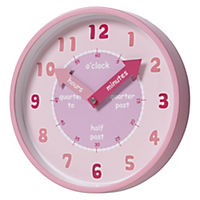 Tu Kids' Pink Wall Clock