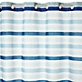 Tu Easy Clip Blue Stripe Shower Curtain